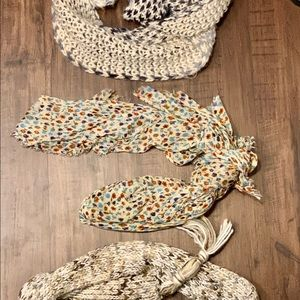 Scarf set. Fall/Winter/Spring scarves.
